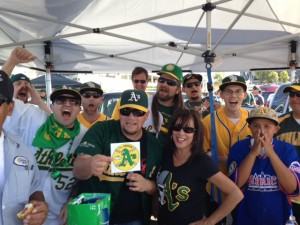 A's fans know how to tailgate