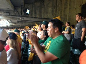 Lifelong A's fan Donald Marquez