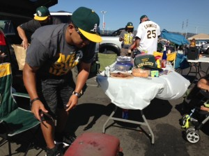 Tailgating in Oakland
