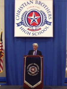 Buck Martinez was the headliner at Christian Brothers High School on Saturday, February 15.