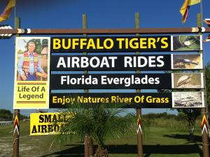 Buffalo Tiger's on the Tamiami Trail