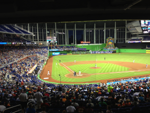 Tigers fans fill Marlins Park